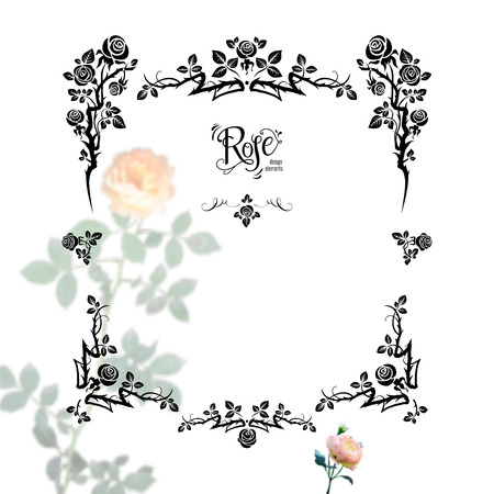 Floral black frame Illustration