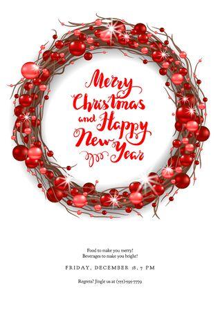 Merry Christmas happy card Stock Photo