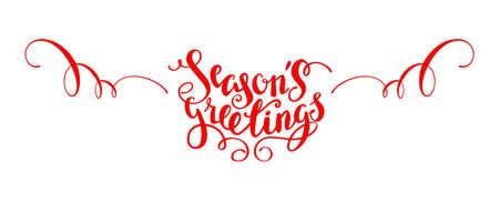 Season greetings lettering on white background, vector illustration. Illustration