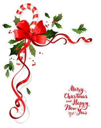 christmas plant: Christmas floral decoration Illustration