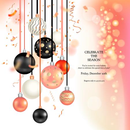 Christmas holiday balls Vector illustration. Illustration