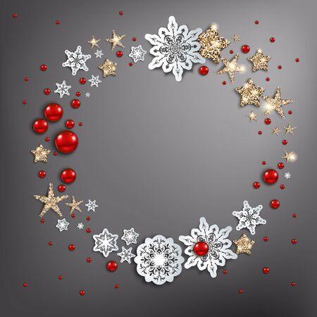 Christmas greeting card design template. Illustration