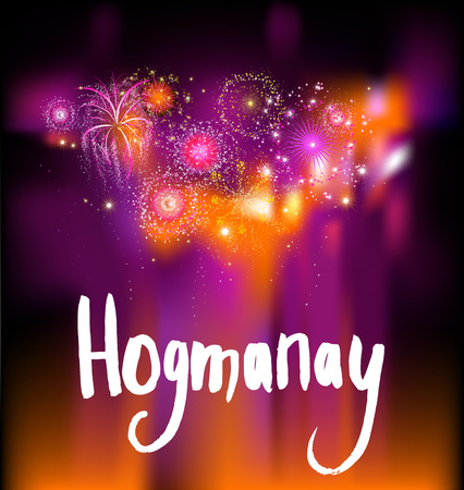 Happy holiday hogmanay Stock Photo