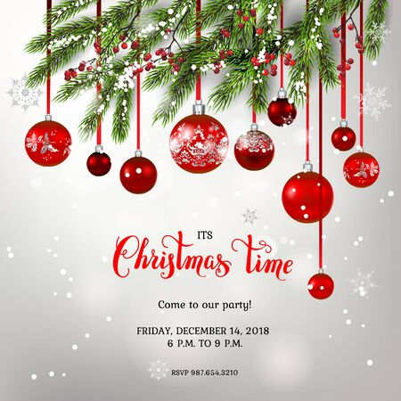 Background and christmas tree decor