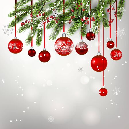Background tree decor for Christmas