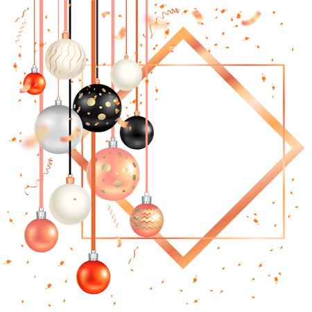 Dark holiday template vector illustration.