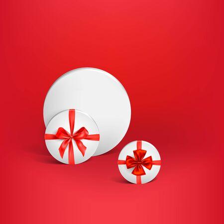Vektorillustration des weißen Kastens des Feiertags.