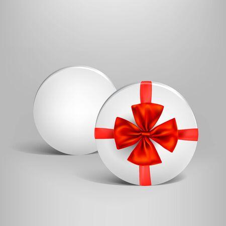 Holiday white box vector illustration. Illustration