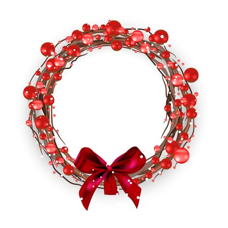 Christmas berry wreath red