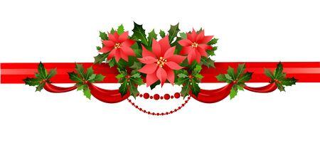 Holiday floral border