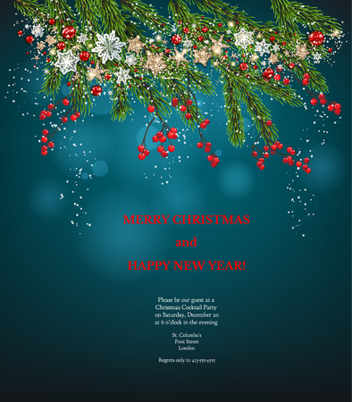 christmas holiday invitation Stock Photo