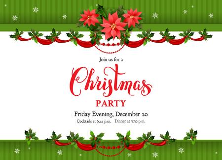 Holiday christmas poster