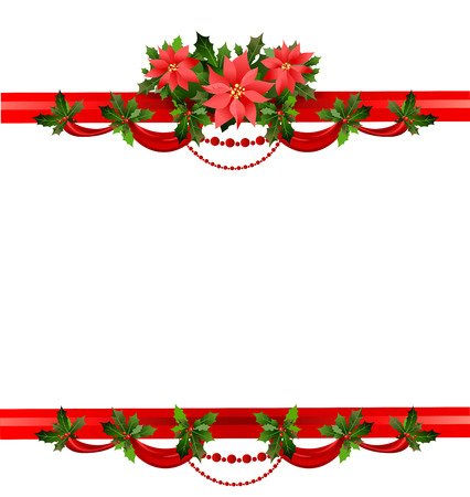 Holiday floral frame