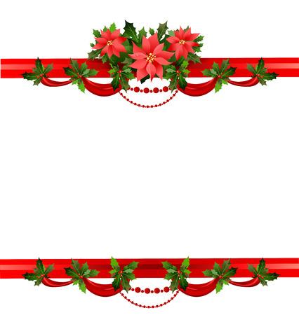 Holiday floral frame