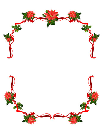 Christmas holiday frame design