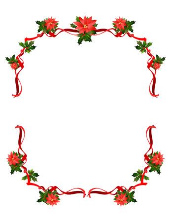 Christmas holiday frame design