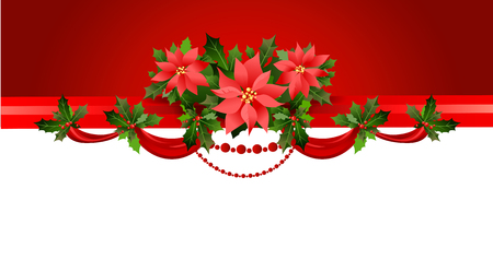 Holiday red border Vector illustration.