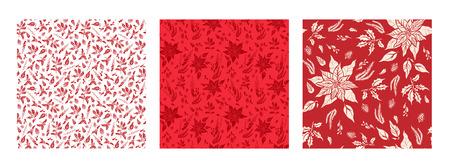 red floral set
