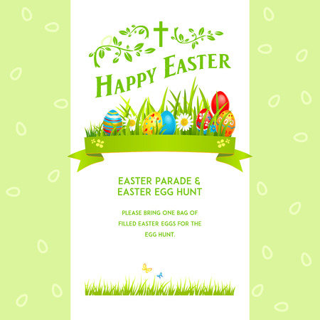 Easter poster template Vector illustration.