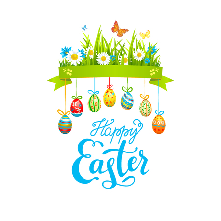 Holiday Template Easter illustration