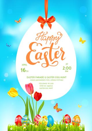 Spring Poster holiday Easter Illustration
