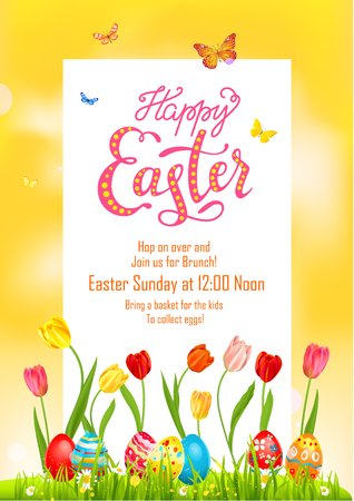 Yellow Poster holiday Easter