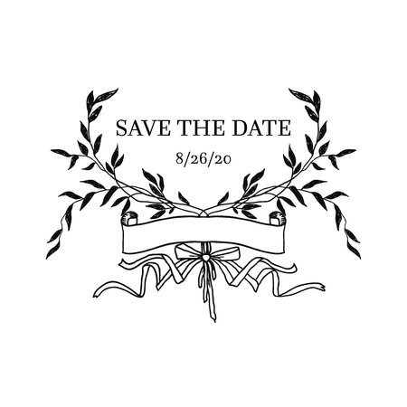 Save the date element Illustration