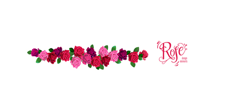 Border roses decor Illustration