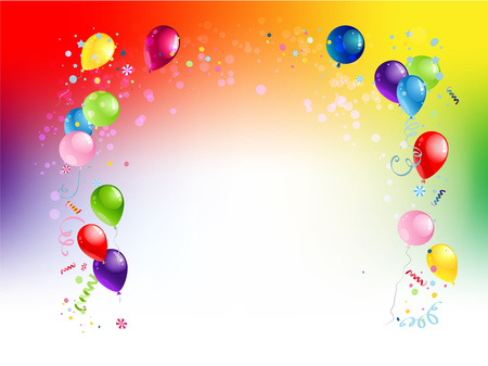 Background Bright holiday balloons