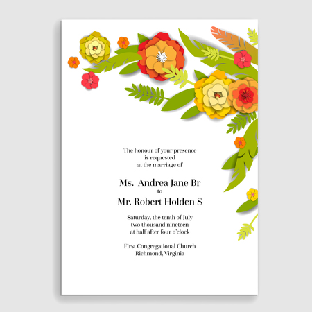 Natura holiday flowers card