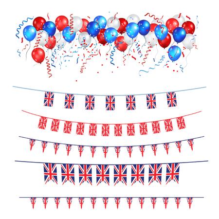 Union Jack flags Illustration