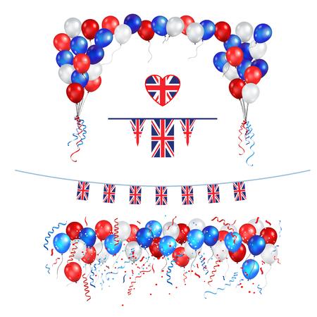 UK Union Jack flag balloons