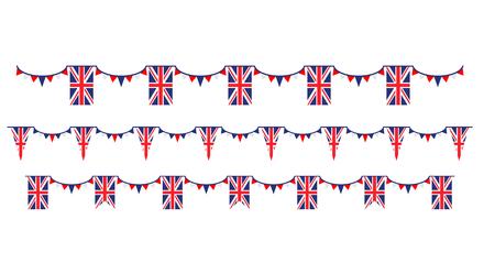 Insieme di simboli del Regno Unito bandiera, distintivo, emblema