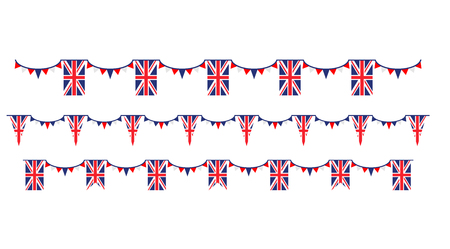 United Kingdom symbols set flag, badge, emblem