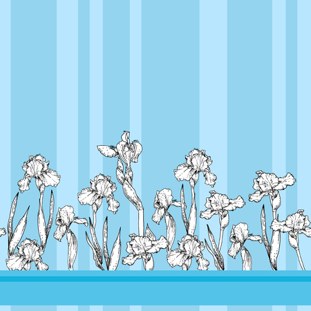 Blue seamless pattern Illustration