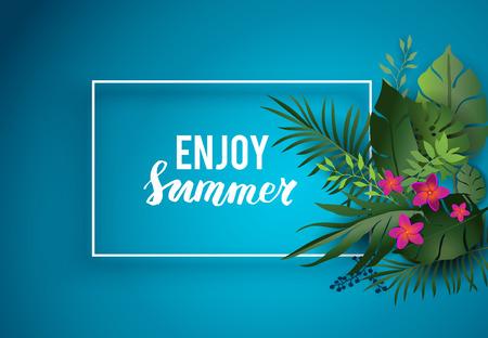 Enjoy summer card Иллюстрация
