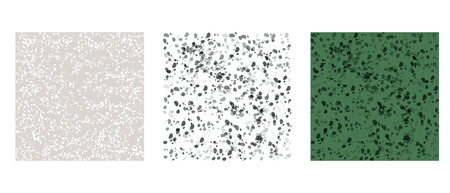 Graphic spotted stone set background. Seamless pattern