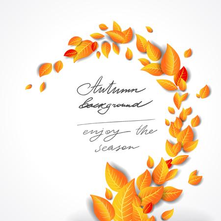 Sfondo giallo brillante foglie