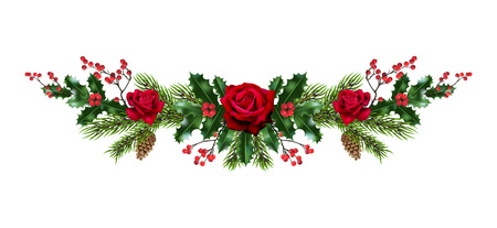 Roses and pine decor