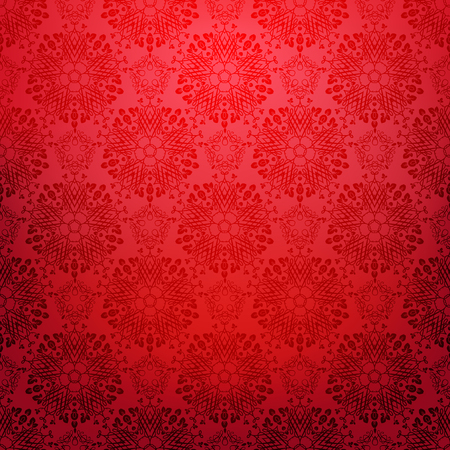 Ornamental seamless lace pattern. Festive red style. Bright holiday background