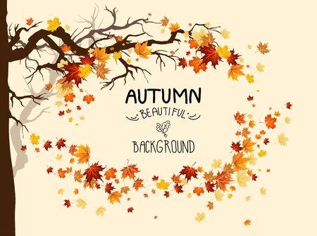 Ilustración de hojas de arce de otoño Ilustración de vector