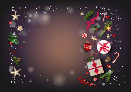 Dark luxury holiday card