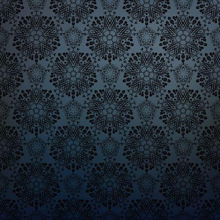 Ornamental seamless pattern. Dark gothic style.