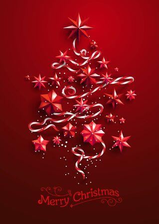 Festive Christmas Tree snow silhouette