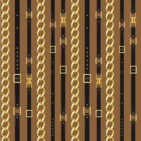 Trendy repeating print on brown backdrop Illustration