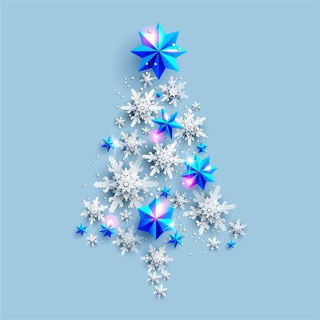 Holiday Tree silhouette Christmas tree