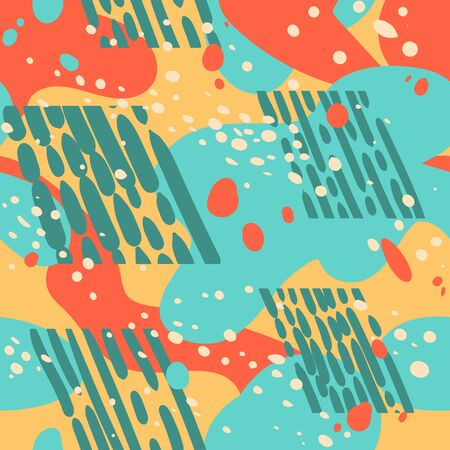 Seamless pattern abstract vector shapes