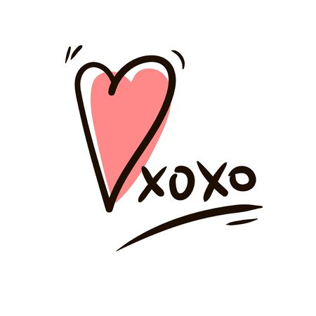 Hugs and kisses icon isolated