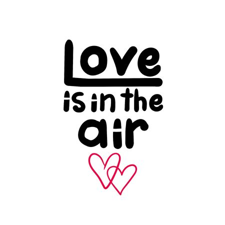 Love is in the air sign Illustration