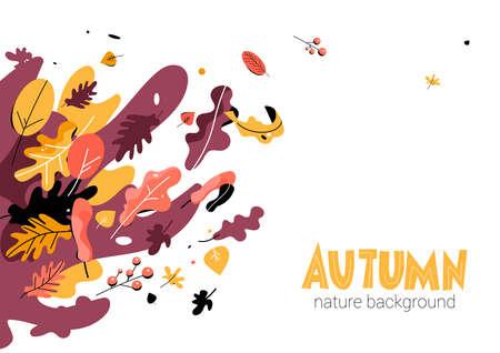 Autumn seasonal illustration trendy style Illustration
